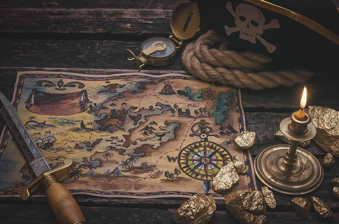 carte aux trésors pirates